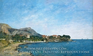The Bay of Fourmis painting reproduction, Eugene-Louis Boudin