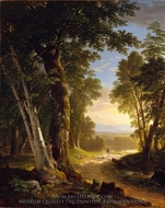 The Beeches painting reproduction, Asher Brown Durand