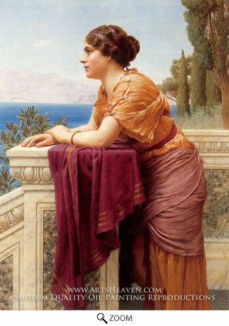 Painting Reproduction of The Belvedere, John William Godward