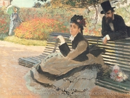 The Bench painting reproduction, Claude Monet
