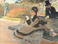The Bench by Claude Monet