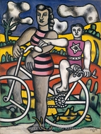 The Bicyclist painting reproduction, Fernand Leger