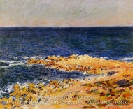 The Big Blue in Antibes by Claude Monet