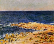 The Big Blue in Antibes painting reproduction, Claude Monet