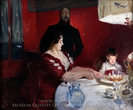 The Birthday Party painting reproduction, John Singer Sargent