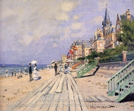 The Boardwalk at Trouville by Claude Monet