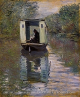The Boat Studio by Claude Monet