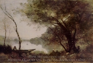 The Boatmen of Mortefontaine painting reproduction, Jean-Baptiste Camille Corot