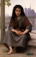 The Bohemian (Bohemienne) painting reproduction, William Adolphe Bouguereau