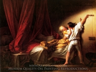 The Bolt painting reproduction, Jean-Honore Fragonard