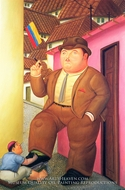 The Bootblack painting reproduction, Fernando Botero