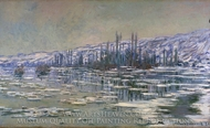 The Break-up of the Ice painting reproduction, Claude Monet