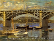 The Bridge at Argenteuil by Claude Monet
