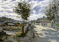 The Bridge at Bougival painting reproduction, Claude Monet