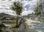 The Bridge at Bougival by Claude Monet