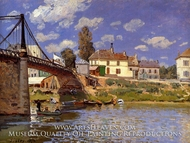 The Bridge at Villeneuve-la-Garenne by Alfred Sisley