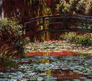 The Bridge Over the Water-Lily Pond painting reproduction, Claude Monet