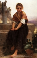 The Broken Pitcher painting reproduction, William Adolphe Bouguereau