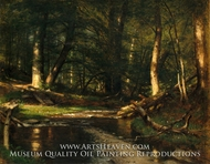 The Brook in the Woods by Worthington Whittredge