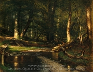 The Brook in the Woods painting reproduction, Worthington Whittredge