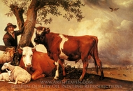 The Bull painting reproduction, Paulus Potter