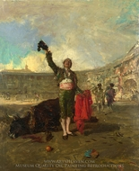 The Bull-Fighter's Salute painting reproduction, Mariano Fortuny