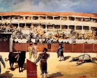 The Bullfight painting reproduction, Edouard Manet