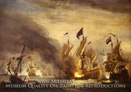 The Burning of HMS Royal James at the Battle of Solebay, 28 May 1672 by Willem Van De Velde, The Younger