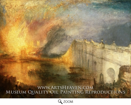Painting Reproduction of The Burning of the House of Lords and Commons, Joseph Mallord William Turner