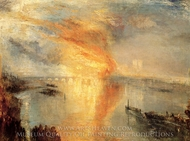 The Burning of the Houses of Parliament painting reproduction, Joseph Mallord William Turner