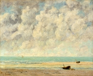 The Calm Sea painting reproduction, Gustave Courbet