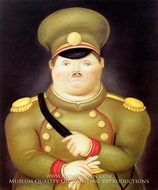 The Captain painting reproduction, Fernando Botero