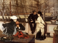 The Captain and the Mater painting reproduction, James Tissot