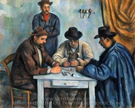 The Card Players painting reproduction, Paul Cezanne