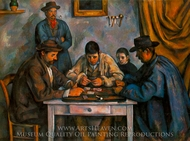 The Card Players II painting reproduction, Paul Cezanne