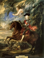 The Cardinal Infante Don Ferdinand of Austria in the Battle of Norway painting reproduction, Peter Paul Rubens