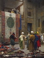 The Carpet Merchant (The Rug Market in Cairo) by Jean-Leon Gerome
