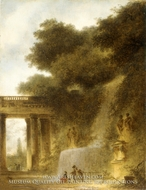 The Cascade by Jean-Honore Fragonard