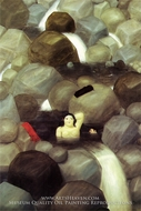 The Cascade painting reproduction, Fernando Botero