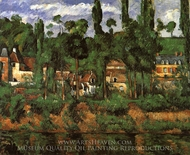 The Castle of Medan (The Home of Zola) painting reproduction, Paul Cezanne