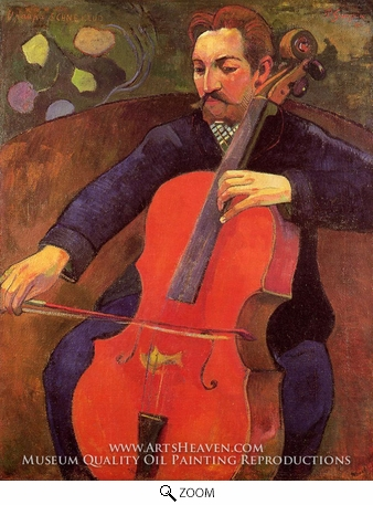 Painting Reproduction of The Cellist (Portrait of Fritz Scheklud), Paul Gauguin