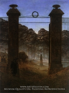 The Cemetery Entrance by Caspar David Friedrich
