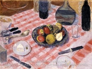 The Checkered Tablecloth by Pierre Bonnard