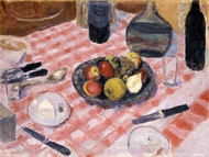 The Checkered Tablecloth painting reproduction, Pierre Bonnard