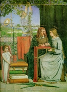 The Childhood of Mary Virgin painting reproduction, Dante Gabriel Rossetti