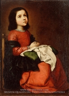 The Childhood of the Virgin by Francisco De Zurbaran