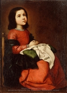 The Childhood of the Virgin painting reproduction, Francisco De Zurbaran