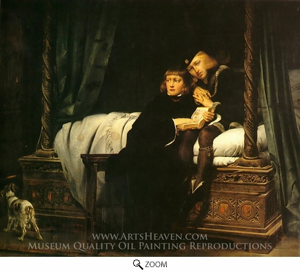 Painting Reproduction of The Children of King Edward Imprisoned in the Tower, Paul Delaroche