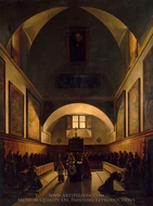 The Choir of the Capuchin Church in Rome painting reproduction, Francois Marius Granet