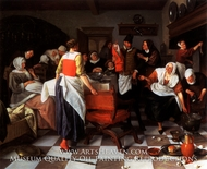 The Christening Feast by Jan Steen